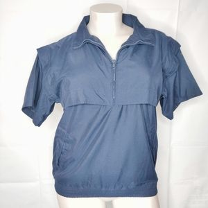 3/$25 Weatherproof Blue Short Sleeve Jacket Sz L